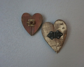 Rustic Joined Hearts