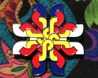 Pretty Lights Mandala Hat Pin