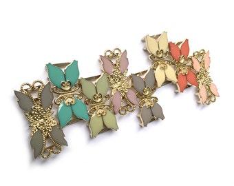 Custom Elastic Waist Belt, Vintage Gold Leaf and Flower Clasp Belt Buckle, Elastic Belt, Women Elastic Belt, Made in Japan, Fit for XS to XL