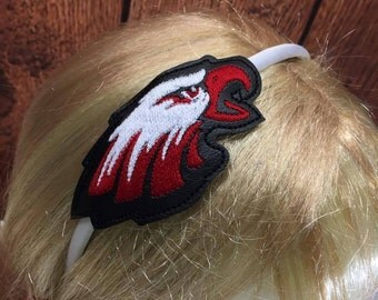 Eagles - Eagle Head - Mascot -  Headband Slip On  - DIGITAL EMBROIDERY DESIGN