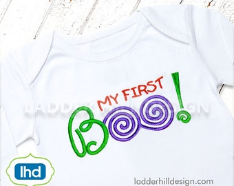My First BOO Halloween Embroidery Design HA017