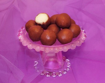 Chocolate Covered Coconut Ball Candy, Chocolate Dipped Candy, Gourmet Coconut Dessert