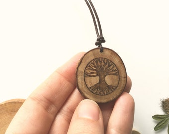 Tree of life pendant - organic wood