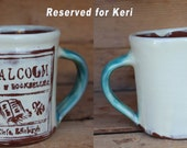A.Malcolm Printer and Bookseller Mug, Outlander inspired ceramic, Outlander Mug