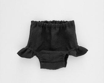 Baby Halloween Black Bloomers, Halloween Costume, Linen Bloomers, Newborn - 3T,