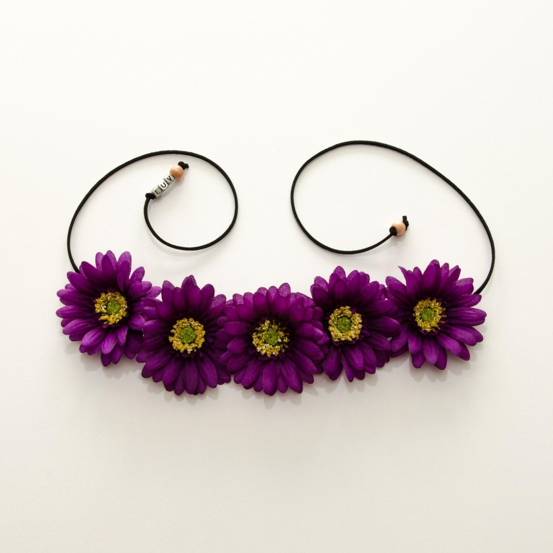 Flower Crown Purple: Purple Daisy Flower Crown