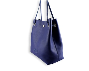 Posh bucket bag #toxleather | Indigo leather bucket | Handmade shoulder | Crossbody bag
