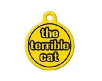 Pittsburgh Steelers Terrible Cat Engraved Pet ID Tag