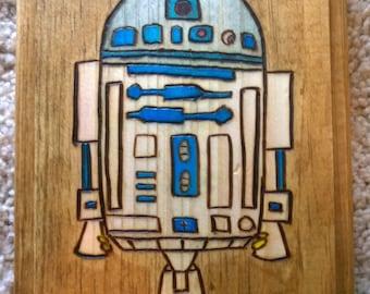 R2-D2 Wood Burn Plaque