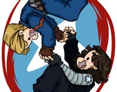 Till the End of the Line - Steve Rogers and Bucky Barnes - Fanart Print