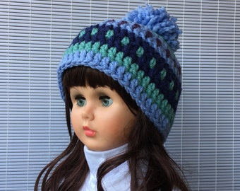 Crochet Pattern * Demi Hat * Instant Download Pattern # 446 * Pom Pom hat *baby toddler child teen adult * fast and easy