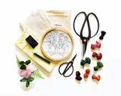6 MONTH SUBSCRIPTION to #SKBDIY Pattern Program - Pdf Embroidery Patterns - Contemporary Embroidery Patterns by Sarah K. Benning - Echinacea