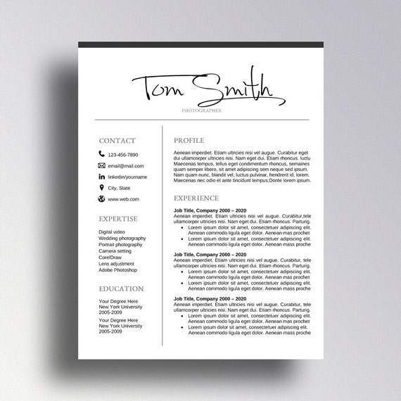 buy 1 get 1 free professional resume template cv template