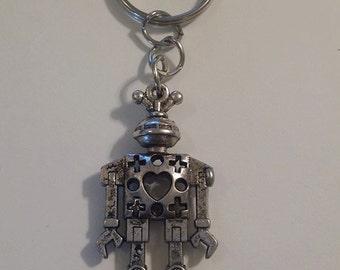 Handmade 3D Robot Keychain