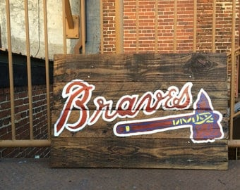 Atlanta Braves Pallet Sign