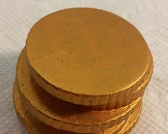 Ceramic Gold Coin Base