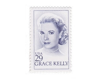 10 Vintage Unused US Postage Stamps - 1993 29c Grace Kelly - Item No. 2749
