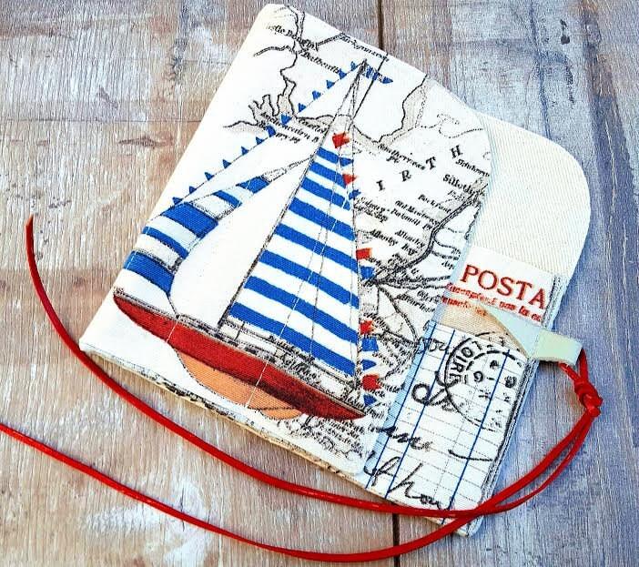 Extra Long Straight Knitting Needles Uk : Nautical postcard case vintage holiday knitting crochet needle