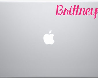 name decal with heart