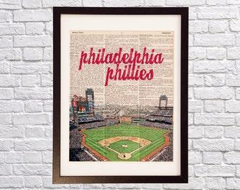 Philadelphia Phillies Dictionary Art Print - Citizens Bank Park - Baseball Art, Philadelphia, Phillies Field, Philly, Gift for Him
