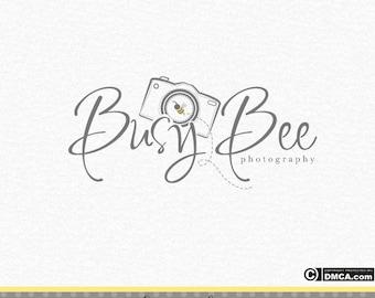 Premade Camera Logo, Photography Logo, Bee Logo, Photographer Logo, Photography Watermark, Business Logo, Whimsical Logo, Branding Logo