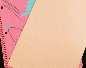 Vintage Pink Lined Paper. Vintage Paper. Journal Paper. Junk Journal Supply. Vintage Ephemera. Planner Accessories. Pink Journal.