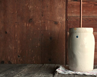 Stoneware Butter Churn Etsy