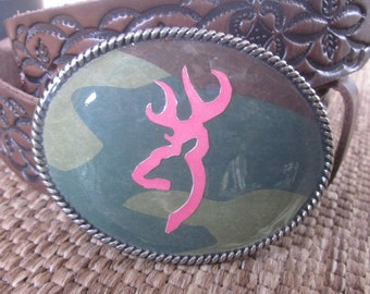 belt buckles Country belt buckles camouflage belt buckle  pink deer head belt buckle rustic  Belt Buckle