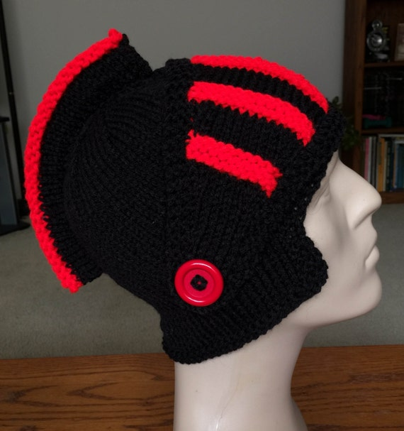 knitted sir knight hat knitted knight helmet by ...