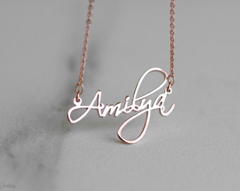 Personalized name necklace - Custom name necklace - Cursive name necklace - Custom Name Jewelry - Christmas Gift - Bridesmaid Gift