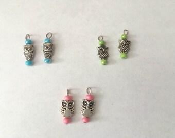 American Girl Doll Owl Earrings Set of 3 Pairs
