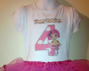 Lalaloopsy birthday T-SHIRT ONLY 1T,2T,3T,4T,5T,6T,7T