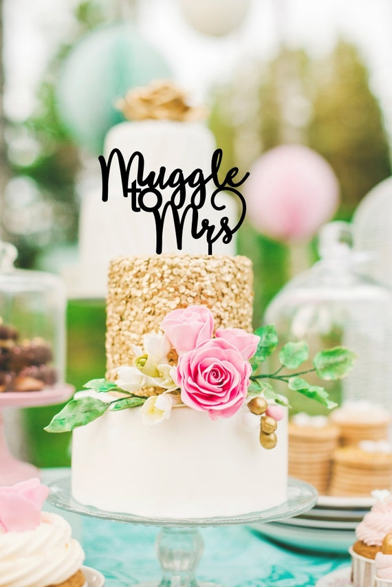 Harry Potter Cake Topper Muggle To Mrs Cake Topper Harry