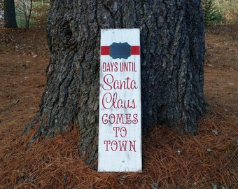Distressed Countdown to Christmas Wooden Sign, Christmas Sign, Christmas Countdown, Rustic Christmas Decor, Christmas Chalkboard Sign