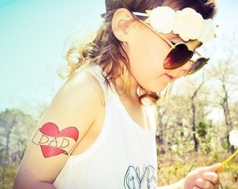dad tattoo birthday gift for kids childrens fake tattoos temporary tattoos for toddlers dressup photography prop kids fashion photoshoot