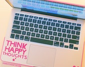 "Think Happy Thoughts Decal [3 by 3.8""]"