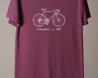 Columbus bike tee, Columbus tshirt, Columbus Ohio tee, midwest is best