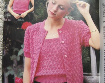 Knit Pattern Book - Bernat #291 - Daydreams - Vintage 1981