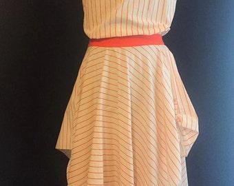 Orange striped creamsicle dress