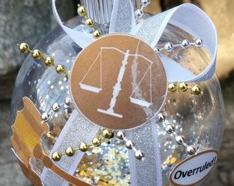 Lawyer/Attorney Christmas Ornament - Scales, Gavel, Objection, Overruled