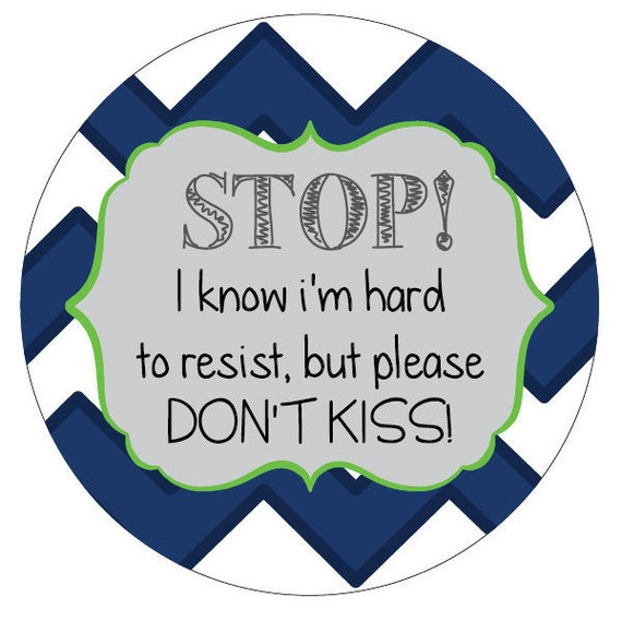 Boy Please dont kiss Preemie sign, newborn, baby car seat tag, baby shower gift, stroller tag, baby car seat sign