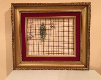 Picture Frame Earring Organizer