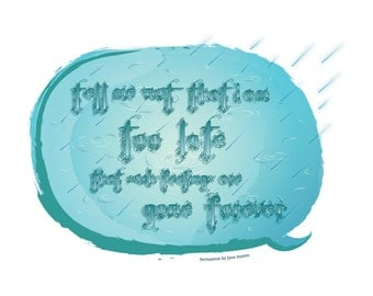 Persuasion - Quote - Greeting Card - Jane Austen - Blank - Literature - Classic - Love - Romance - English