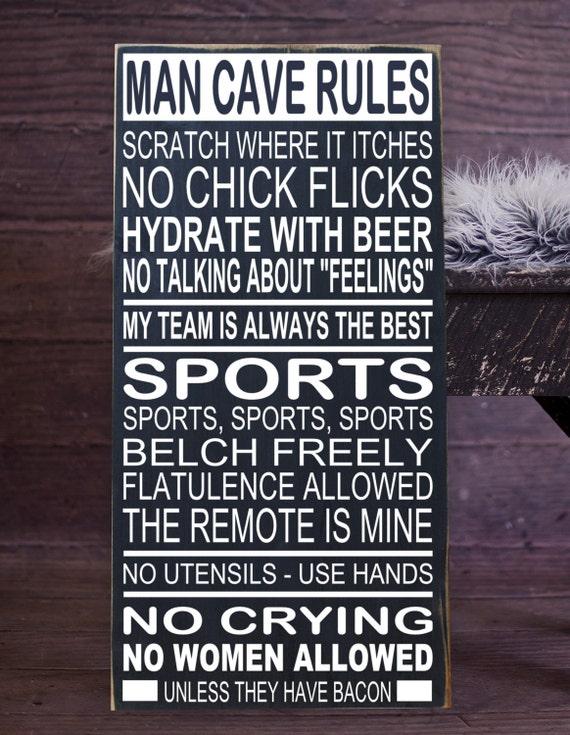 Man Cave Subway Art : Man cave rules subway art vinyl wood sign