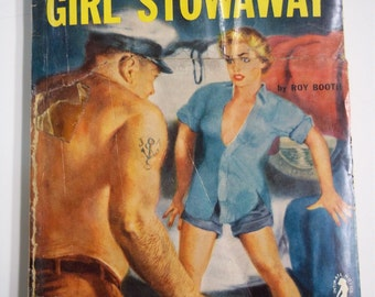 Girl Stowaway by Roy Booth Intimate Novels #53 (1936) Vintage Romance/Sleaze Pulp Digest GGA