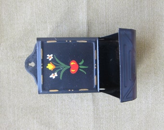 Painted Tin Matchbox Holder