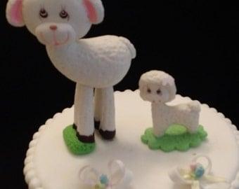 Lamb Cake Topper, Little Lamb Baby Shower, Lamb Mommy and Baby Shower, Baby Lamb Cake Topper, Lamb Favor Decoration, Little Lamb Baby shower
