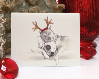 American Pit Bull Terrier Holiday Card