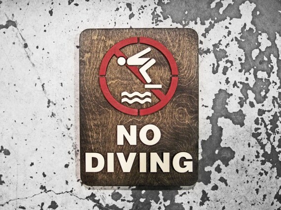 No Diving Swimming Pool Sign Extra Large 9 X 12