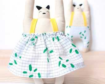 Doll blanket decortion baby - child design graphic soft fabric natural